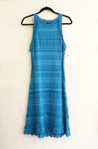 ROBERTO CAVALLI Turquoise Knit / Crochet Sweater Dress Sz 48 or M NWT $1595 - $450.57 CAD