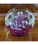 Vintage CAITHNESS Scotland Myriad Signed VORTEX Art Glass Paperweight - $149.95