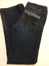 Silver Jeans Sz 28x33 Aiko Dark Wash Denim Low Rise Boot Cut Hemmed (Ins... - $15.44