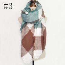 Hot Fashion Warm Cashmere Plaid Blanket Women's Warp Scarf Pashmina Shawl image 5