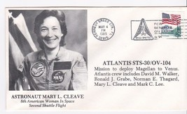 Astronaut Mary Cleave Atlantis STS-30/OV104 Launch Kennedy Spc Ctr, Fl 5/4/89 - $1.78