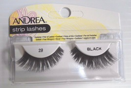 Andrea's Strip Lashes Fashion Eye Lash Style 28 Black - (Pack of 6) - $19.98