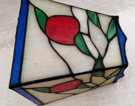 """Small 6"""" Stained Glass Lampshade White, Red, Green, & Blue image 3"""
