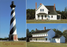 Multiview Of Cape Hatteras 1870 Lighthouse And Keepers House Unused Post... - $14.50