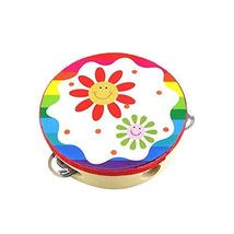 Cute Hand Drum Kids Musical Instruments Toy Sunflower Tambourine