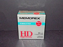 "Memorex Formatted HD High Density Contains 10 3.5"" Computer Disks New 36... - $11.87"
