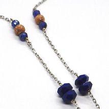925 Silver Necklace, Lapis Lazuli, pendant locket tree of life, image 4