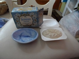Vintage Avon Victorian Blue And White Soap Dish With Soap NIB - $12.00