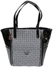 New Authentic GUESS Black Signature  Logo Bluebird Tote Bag Purse Handbag - $69.99