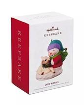 HALLMARK 2018 Ornament SNOW BUDDIES New FREE SHIPPING Snowman and Lamb - $34.99
