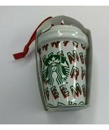 Starbucks 2019 Holiday MERRY COFFEE Mini Cup Tumbler Christmas Tree Orna... - $18.84
