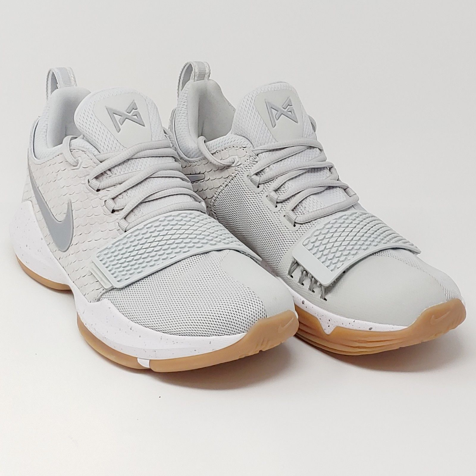 online retailer d3a2a 74bf1 ... Nike Paul George PG1 Pure Platinum Wolf Grey Basketball Sneakers Mens  Size 9.5