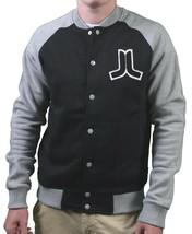 WeSC Balker Black Raglan Fleece Button Baseball Sweater Jacket Large NWT