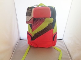 New Ogio X-Train Lite Neon Pink, Blue & Yellow Laptop Backpack Many Pock... - $38.72