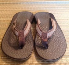 CHACO Women's 7 brown flip flop thong sport sandals ecotread 25% recycle... - €41,29 EUR