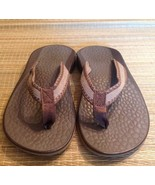CHACO Women's 7 brown flip flop thong sport sandals ecotread 25% recycle... - $46.75