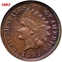 1883 Indian Head a Copper Penny great features and year, and Fast shipping - $3.99
