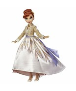 Disney Frozen Arendelle Anna Fashion Doll with Glittery White Travel Dre... - $40.43