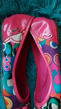 Darling Coach Remmi Poppy Pink Patent Leather Multicolor Flats Ballet Wo... - $29.65
