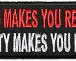 Blood Makes You Related, Loyalty Makes You Family Patch - 4x1.5 inch