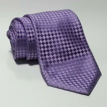 "Canali Men Dress Silk Tie Purple Handmade Italy 3.5"" wide 60"" Long  - $77.55"