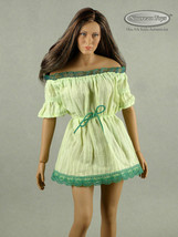 1/6 Phicen, TBLeague, Hot Toys, NT - Sexy Female LIte Green Lace Romper ... - $22.77