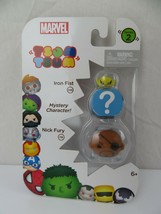Iron Fist & Nick Fury & Mystery Character Marvel Tsum Tsum Series 2 Toy New - $9.89
