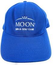 Moon Spa & Golf Club Cancun Mexico Baseball Cap Hat Blue Strapback Adjus... - $10.73