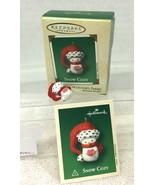 2002 Snow Cozy #1 Mini Hallmark Christmas Tree Ornament MIB Price Tag - $12.38