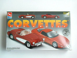 FACTORY SEALED Chevrolet Corvettes by AMT/Ertl #8325 1957 and1997 Corvettes - $29.69