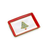 Charter Club Christmas Tree Ceramic Tray Gift Box - NIB - €8,03 EUR