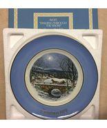VTG 1979 AVON ENOCH Wedgewood DASHING THROUGH SNOW Christmas Plate ENGLAND - $23.88