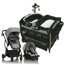 Evenflo Urbini Baby Stroller Travel System Car Seat Set with Deluxe Playard Bed - $597.70