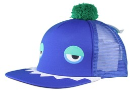 Neff Men's Blue Monster Snapback Baseball Pom Hat Cap NWT image 2