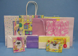Lot of 10 items Gift Bags, Picture Frames, Tissue Paper New Baby - $13.85