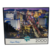 Vegas Baby Buffalo 2000 Piece Puzzle with Puzzle Poster New York MGM Luxor - $23.74