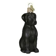 Black Labrador Glass Christmas Blown Ornament - $19.99