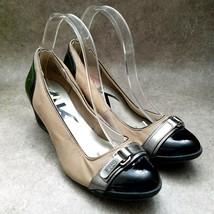 Anne Klein Sport Womens Tamarow  Size 8.5 Brown Black Slip On Wedge Heels - $19.99