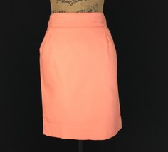 J.Crew The Pencil Skirt 00 XXS Peach Texture 2 Pocket Trendy CUTE - $28.95