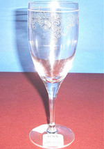 Lenox Venetian Lace Crystal Iced Beverage Glass Etched Floral Scrolls 77... - $20.90