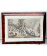 Rare Aquatint Engraving 1835 -Cockburn Hunt View of The Falls of Montmor... - $289.79