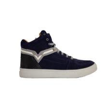 DIESEL S-SPAARK MID Mens High Top Suede Sneaker Medieval Blue Black Size 12 - $92.62