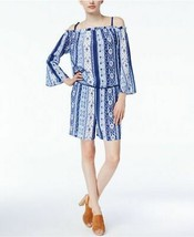 INC INTERNATIONAL CONCEPTS Blue Scarf Printed Off The Shoulder Romper NW... - $18.24