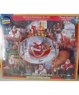 """White Mountain Puzzles """" Merry Christmas to All """" 1000 pieces Jigsaw Puzzle - $12.73"""