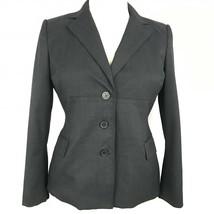 Anne Klein Women Blazer Pockets 3 Button Petite Grey Size 14P - $36.98