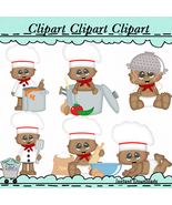 Babies in the kitchen clip art thumbtall
