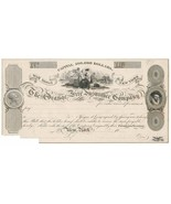 1825 The Orange Fire Insurance Company Note Proof on India, Wall Street ... - $250.00