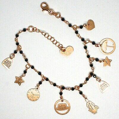 Armband und Ohrhänger 925 Silber, Mary Tasche Regenschirm Hut Sterne, Le Favole