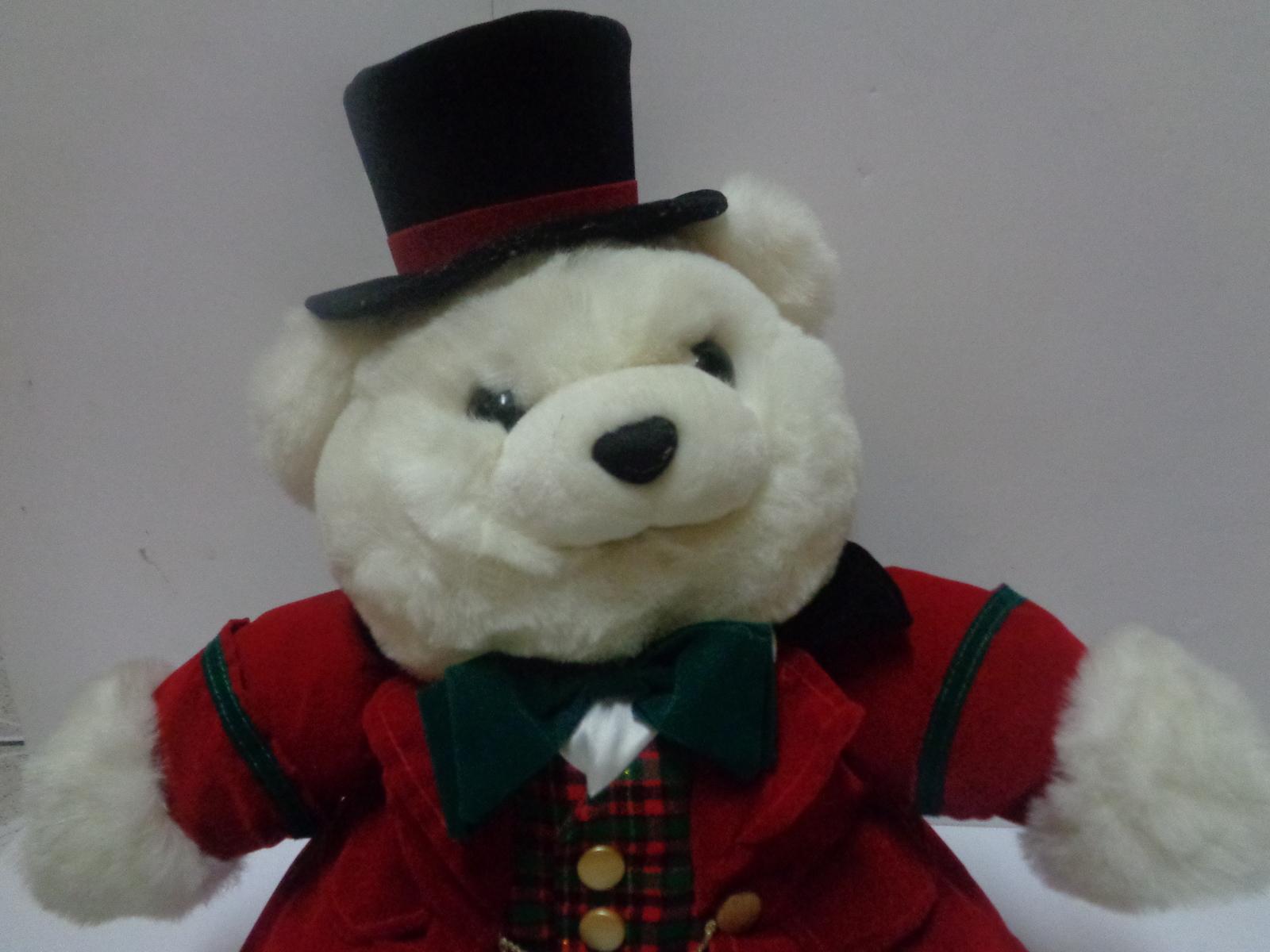 "Top Hat Teddy Stuffed Bear 1993 Plush 21"""