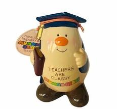 Enesco Figurine Teachers are classy Gift human bean anthropomorphic NWT ... - $28.98